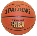 Spalding NEVERFLAT Hexagrip Women's 28.5-inch Basketball 71027E