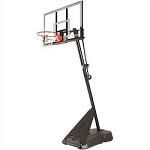 Spalding Portable Basketball Hoop 75746 54-in Acrylic Goal Black Base