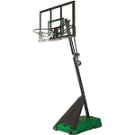 Spalding Portable Basketball 75747 54 In Acrylic Backboard Green Base