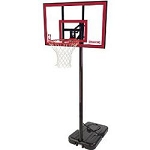 Spalding Portable Basketball Hoops 77351 44 In Polycarbonate Backboard