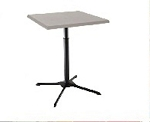 Lifetime Bistro Table 80055 White Adjustable Height Cafe Table