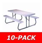 10 Lifetime Picnic Tables 880215 White Granite Top 6 Ft. Picnic Table