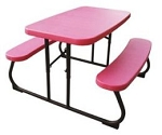 80156 Lifetime Children's Picnic Table Pink Folding Table