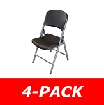 Lifetime Folding Chairs 80187 Black Seat and Back 80631 - 4-Pack