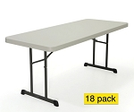 18 Lifetime Plastic Folding Tables 80249 Professional Grade Almond 6'