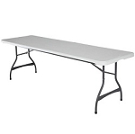 8 ft. Commercial Nesting Lifetime Plastic Table 1-Pack 80299 (White Granite)