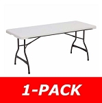 6 ft. Commercial Nesting Lifetime Plastic Table 1-Pack 280272 (White Granite)