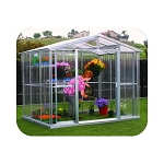 80311 DuraMax Outdoor Metal Greenhouse 8'x8'