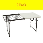 Lifetime Camp Table White Granite 80315 4-Foot Fold-in-Half Top 2 Pack