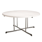 Lifetime 80326 60-inch Round Fold In Half Folding Tables 8 Pack