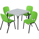 Lifetime Childrens Table and Stacking Chairs 80500 1 Table 4 Chairs