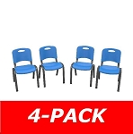 80533 Commercial Children's Stacking Chair (dragonfly blue) 4-Pack