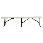 Lifetime 80843 6-Foot Almond Light Commercial Fold-In-Half Bench 2 Pack