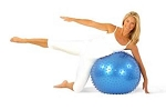SO Denise Austin Exercise  w/ Video Fitness Massage Ball