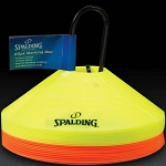 Spalding 8432S Orange and Yellow Training Cones 20 Pack