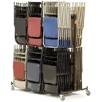 National Public Seating 84 Chair Caddy Rack Storage Cart