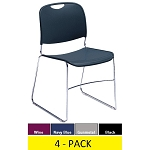 Plastic Stackable Chairs National Public Seating 8500 Series 4 Pack