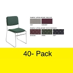 40-Pack Model 8600 Lightweight Upholster Stack Chairs National Public Seating