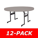 Lifetime Plastic Tables - 880125 Putty 60-inch Round Tables - 12 Pack