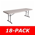 Lifetime Tables - 880127 Putty Color 8 Ft. Industrial Table - 18 Pack