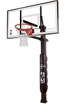 888172  Spalding Inground Basketball Hoops 72 in. Glass Backboard