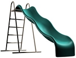 9' Stand Alone Children's Slide Lifetime Products Earth Tone 90037