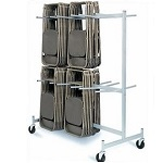 Folding Chair Storage Cart Raymond Products Full Size 2 Tier Truck