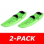 2-Pack 90116 Manta Kayak (Lime Green, Backrest)