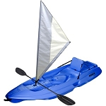 SO Lifetime Sit-on-Top Kayaks 90150 Blue 8 Ft Monterey Kayak With Sail