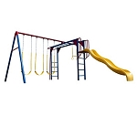 Lifetime Swing Set - 90177 Monkey Bar Playground with Slide (primary colors)