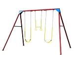 Heavy-Duty A-Frame Metal Swing Set 90200 (Primary Colors)