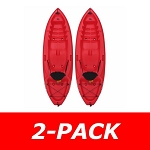 Lifetime Emotion Kayak 90244 Spitfire 8-Foot Red 2 Pack