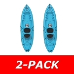 Lifetime Emotion Kayak 90248 Spitfire 9-Foot Blue 2 Pack