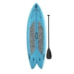90531 Lifetime Freestyle XL Paddleboard (Glacier Blue, paddle)