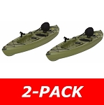 2-Pack - Lifetime Tamarack 90539 Muskie Angler 10-foot Sit On Top Fishing Kayak