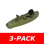 3-Pack - Lifetime Tamarack 90539 Muskie Angler 10-foot 120 Inch Sit On Top Green Fishing Kayak
