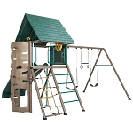 Lifetime 90797 Double Slide Big Stuff Adventure Earthtone Clubhouse Swing Set