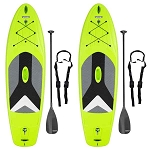 90891 Lifetime Horizon 100 Stand-Up Paddle boards 2 Pack Lime Green 10-Foot