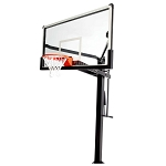 Lifetime 90964 72 in Tempered Glass Bolt Down Adjustable Mammoth Basketball System
