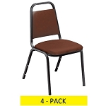 4 National Public Seating 9100v Economy Vinyl Upholstered Stack Chairs