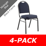 Stacking Chairs National Public Seating 9200F Series Dome-Back 4 Pack
