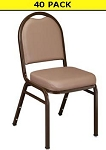 National Public Seating 9201 French Beige Colored Dome Stacking Chair