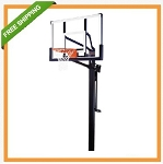 Lifetime Mammoth Basketball Goal 54 Glass Backboard Hoop System 98856