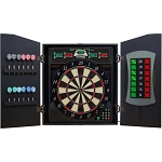 Bullshooter CMX5000 Cricket Maxx 5.0 Electronic Dartboard and Cabinet