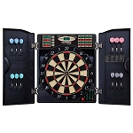 Bullshooter EBR1000 E-Bristle 1000 Electronic Dartboard and Cabinet