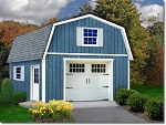Best Barns Jefferson 16'x20' 2-Story Wood Shed Barn Kit with Stairs