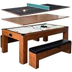 Sherwood NG2422H 7-ft Air Hockey Table w/ Benches