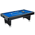 Hustler NG2515PB  Pool Table with Blue Felt, Internal Ball Return System, Easy Assembly, Pool Cues and Chalk