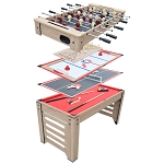 Madison NG5017 54-in 6-in-1 Multi Game Table Pool, Foosball, Table Tennis