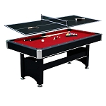 Spartan 6-FT Billiard Table With Table Tennis Top